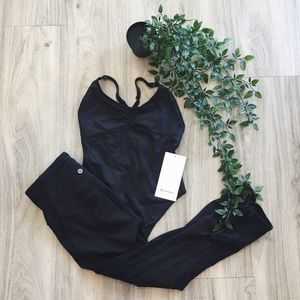 NWT Lululemon black bodysuit